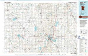 Albert Lea topographical map