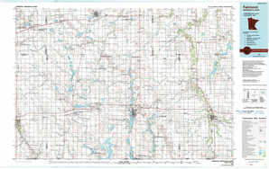 Fairmont topographical map