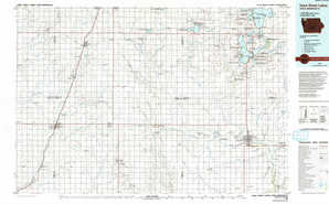 Iowa Great Lakes topographical map