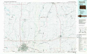 Sioux Falls topographical map