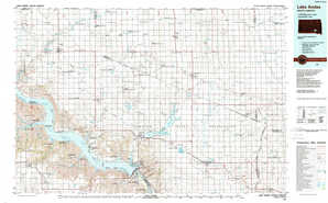 Lake Andes topographical map