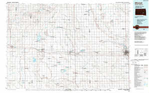 Mitchell topographical map