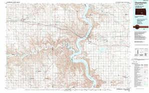 Chamberlain topographical map
