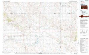 Martin topographical map