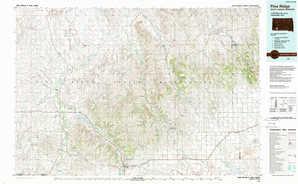 Pine Ridge topographical map