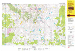 Hot Springs topographical map