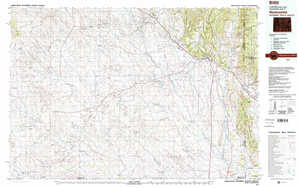 Newcastle topographical map
