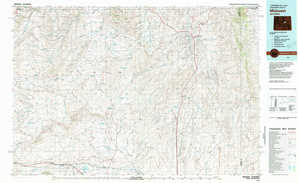 Midwest topographical map
