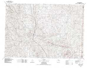 Kaycee topographical map