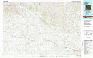 Lysite topographical map