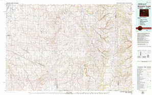 Nowater Creek topographical map