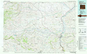 Thermopolis topographical map