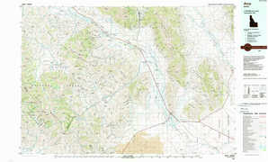 Arco topographical map
