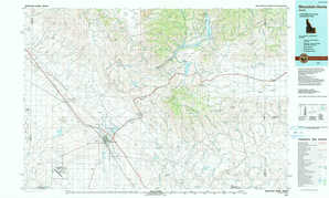 Mountain Home topographical map