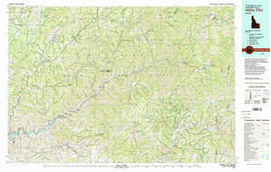 Idaho City topographical map