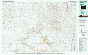 Mahogany Mountain topographical map