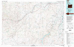 Vale topographical map