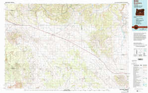 Brothers 1:250,000 scale USGS topographic map 43120e1