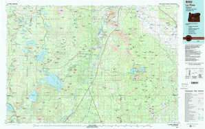 La Pine topographical map