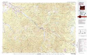 Oakridge topographical map