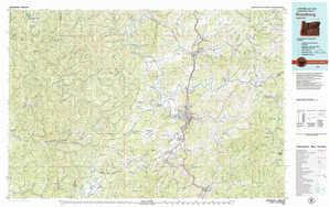 Roseburg topographical map