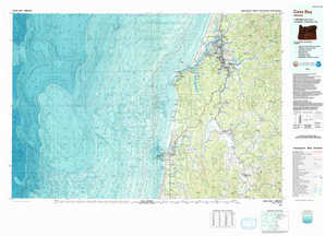 Coos Bay topographical map