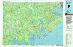 Machias topographical map