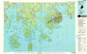 Bar Harbor topographical map
