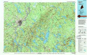Bangor topographical map