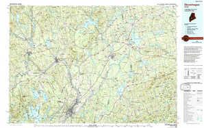 Skowhegan topographical map