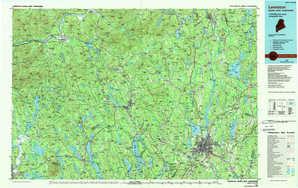 Lewiston topographical map