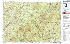 Mount Washington topographical map