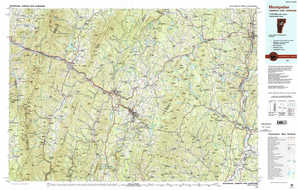 Montpelier topographical map