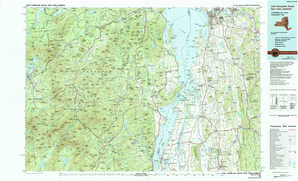 Lake Champlain South topographical map