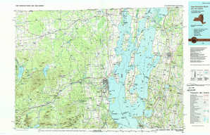 Lake Champlain North topographical map
