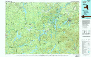 Tupper Lake topographical map