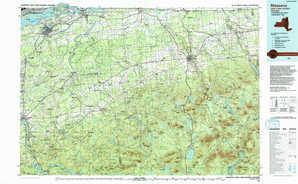Massena topographical map