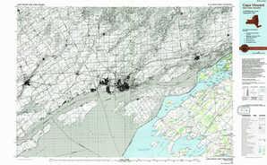 Cape Vincent topographical map