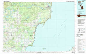 Tawas City topographical map