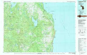 Hubbard Lake topographical map
