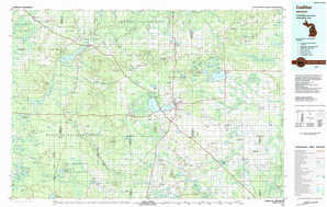 Cadillac topographical map