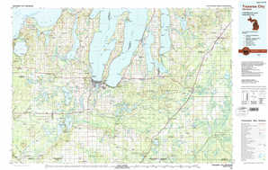 Traverse City topographical map