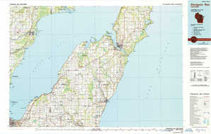 Sturgeon Bay topographical map