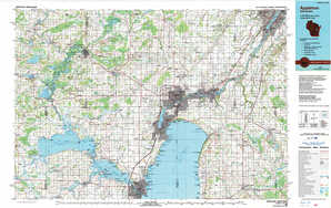 Appleton topographical map