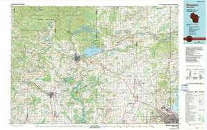 Shawano topographical map