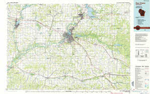 Eau Claire topographical map