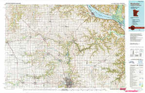 Rochester 1:250,000 scale USGS topographic map 44092a1