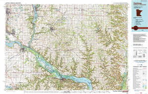Hastings 1:250,000 scale USGS topographic map 44092e1