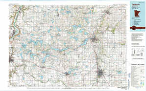 Faribault 1:250,000 scale USGS topographic map 44093a1