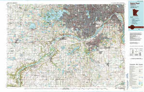 Saint Paul 1:250,000 scale USGS topographic map 44093e1